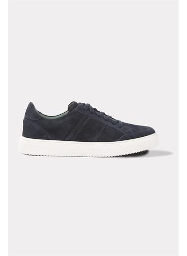 Krähe Zax Lacivert Süet Minimal Sneaker Lacivert